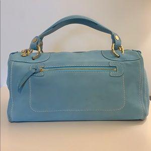 Celine baby blue suede bag